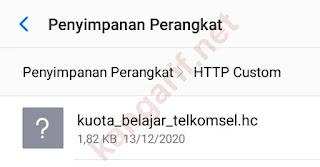 lokasi file config http custom