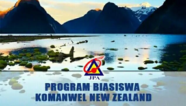 Biasiswa Komanwel New Zealand 2021 Online