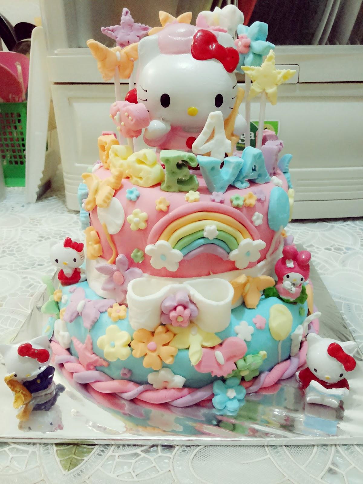 Sagitarius Cake Shop Kue Ulang Tahun Hello Kitty 2 Tingkat