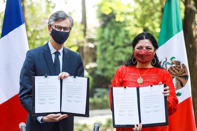 México y Francia firman convenio de cooperación para proteger el patrimonio cultural