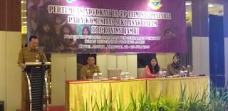 Sekda Provinsi Jambi Membuka Secara Resmi Pertemuan Advokasi LS/LP Eliminasi MPMalaria Pada Komunitas Suku Anak Dalam Di Provinsi Jambi.