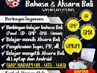 Les Privat Bahasa dan Akasara Bali daerah Denpasar dan Badung