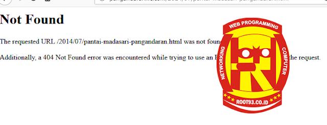 jika konfigurasi file htacces salah