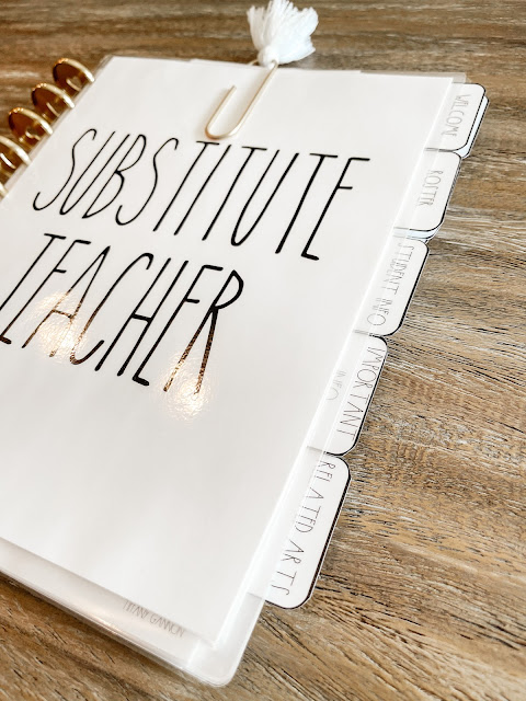How to easily plan for a substitute teacher and create the PERFECT substitute teacher binder!