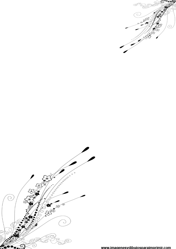 Folios Decorados En Blanco Y Negro Imagenes Y Dibujos Para Imprimir