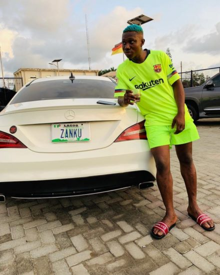 Zlatan Ibile acquires brand new 35 million naira mercedes benz car