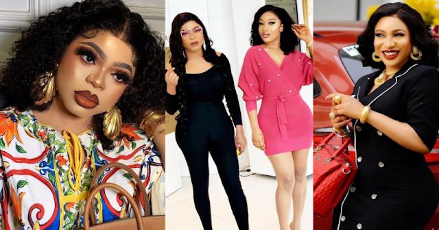 War of best friends: Nigerian Crossdresser, Bobrisky blocks Actress, Tonto Dikeh After She Unfollowed Him On Intagram