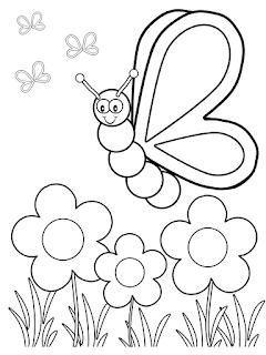 Desenho de borboletas para colorir