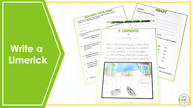 In search of ELA St. Patrick's Day Activities for Upper Elementary students? Have students write a limerick.