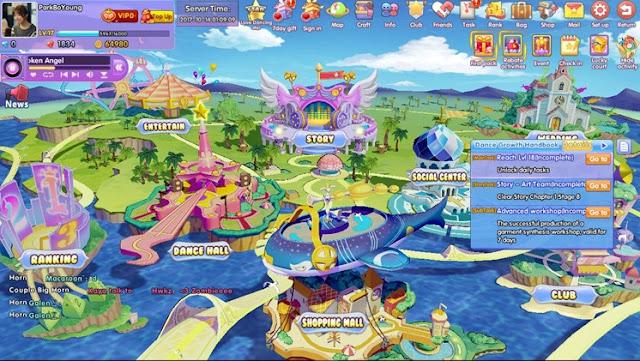 tampilan dasar dari MAP DanceOn