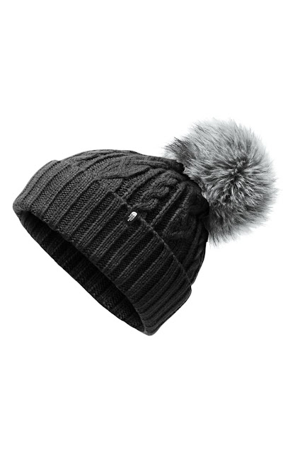 Northface Beanie with Pom