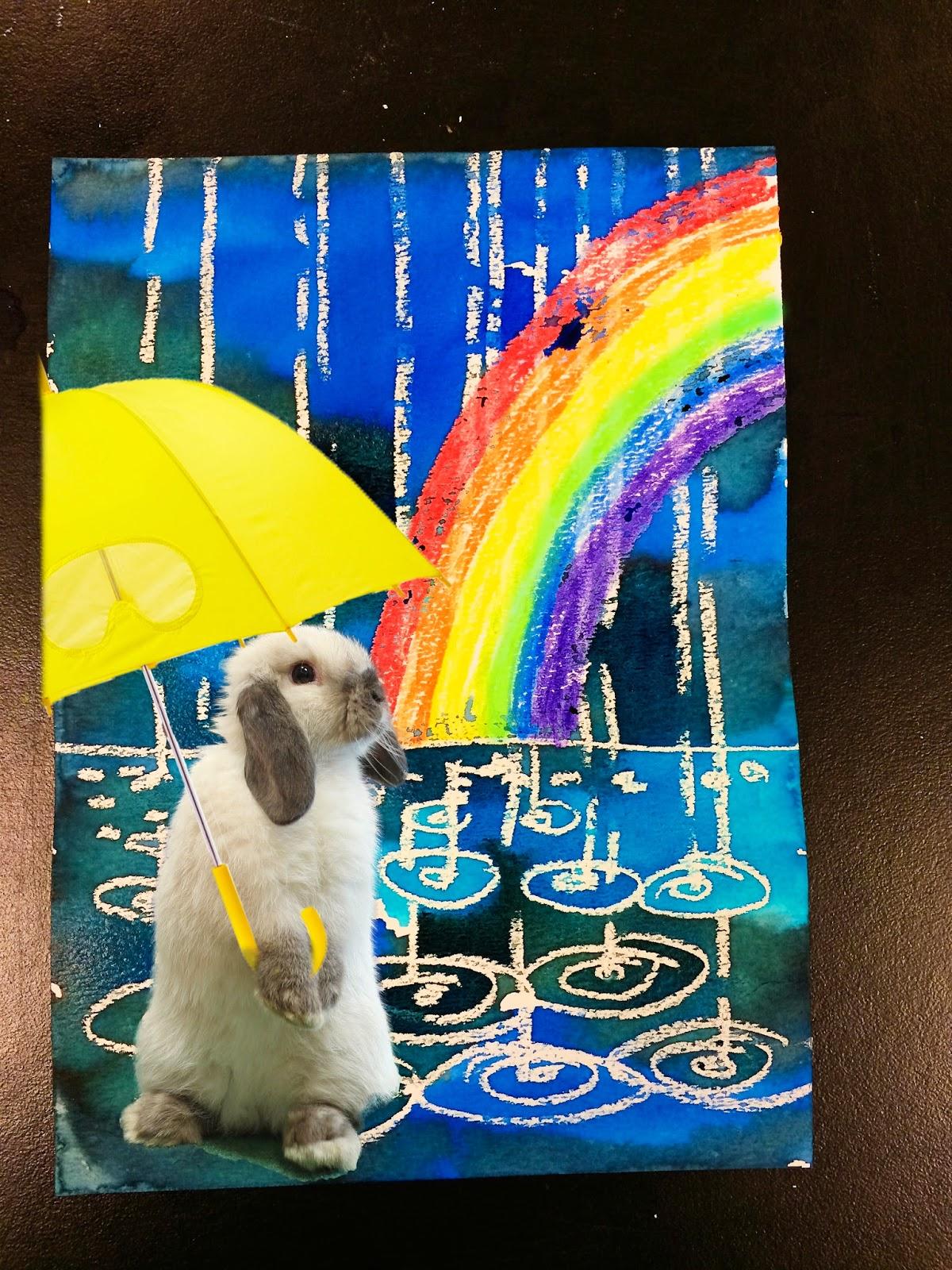 Smart Class Winter Rain Watercolor Resist
