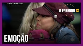 A Fazenda 12 – Carol é a eliminada da semana – Biel segue no jogo – Carol se despede de Mion