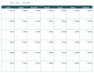 Word: modelli calendari