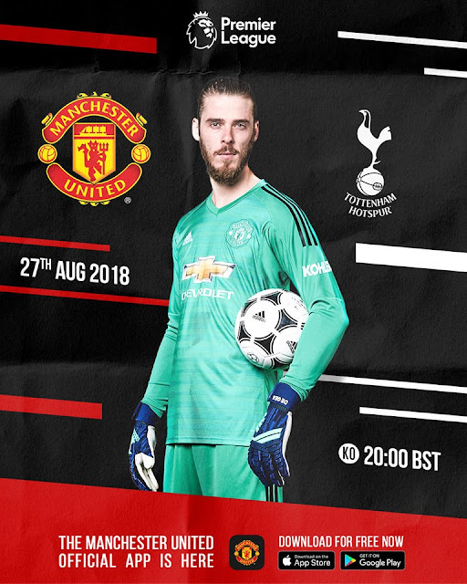 Manchester United vs Tottenham Live Stream Premier League 27.8.2018