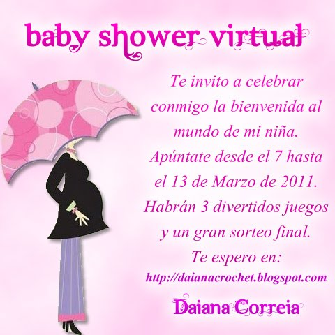 El Crochet De Daiana Mi Baby Shower Virtual Edito 8 De Marzo