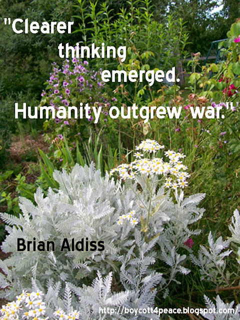 """Clearer thinking emerged. Humanity outgrew war."""