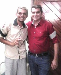 Jovem pré-candidato a vereador se reúne com Olivânio em Picuí