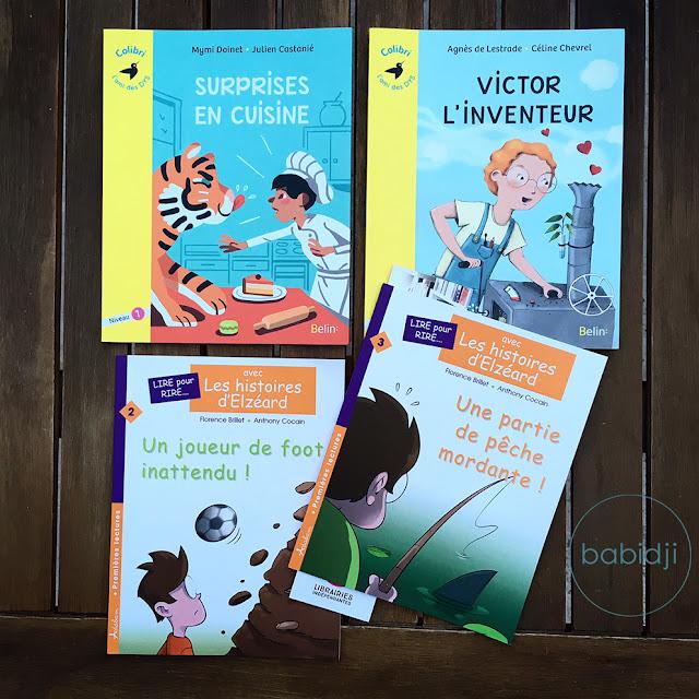 Couverture de 4 livres conçus pour les enfants dyslexiques aux éditions Belin et Adabam