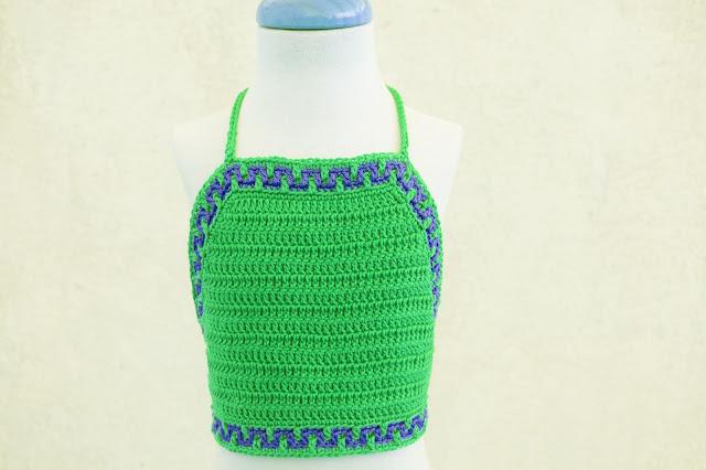 4- Crochet Imagen Top halter de verano a crochet y ganchillo por Majovel Crochet