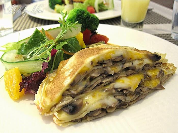 【台北大直】約克夏餐廳Yorkshire。法式千層野菇薄餅+燒烤香料蔬菜