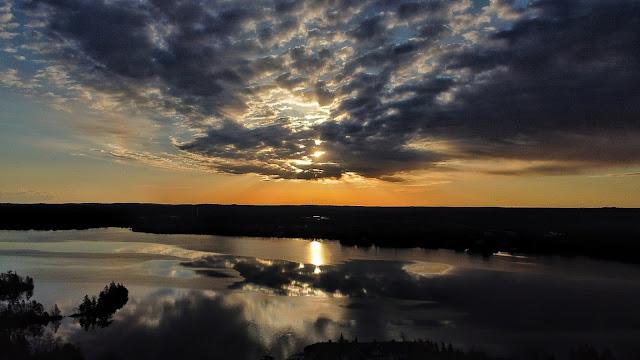 Sunrise over Porters Lake, Nova Scotia