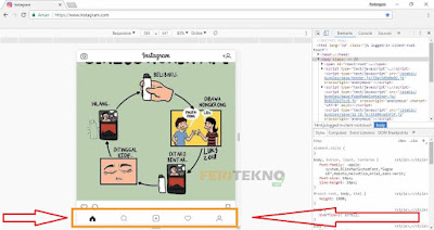 cara upload gambar atau video instagram lewat komputer 4