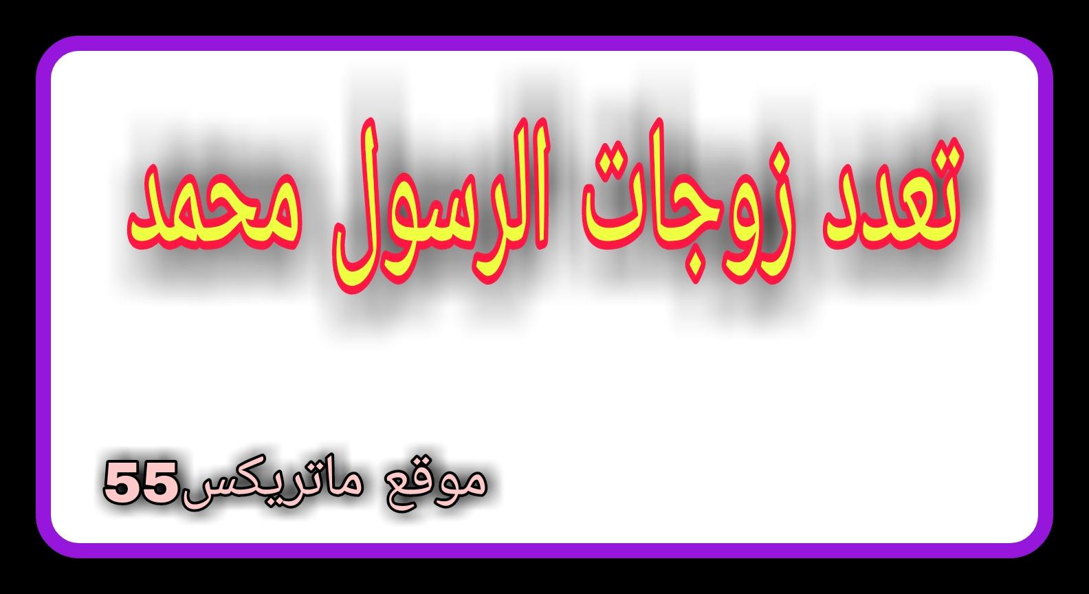 تعدد زوجات الرسول محمد | عدد زوجات الرسول محمد | زوجات الرسول سيدنا محمد