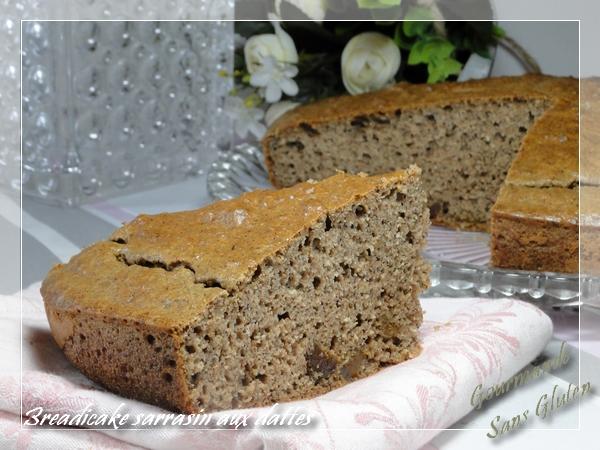 Breadcake à la farine de sarrasin, aux dattes (sans gluten)