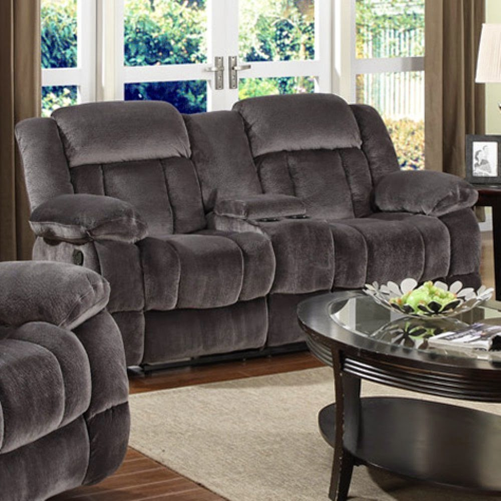 The Best Reclining Sofa Reviews: Navy Blue Reclining Loveseat