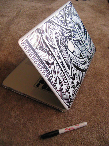 Sharpie Designs On Laptop