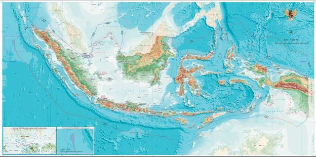 """Luas Wilayah dan Letak Negara Indonesia Luas Wilayah Indonesia Indonesia merupakan salah satu negara terluas didunia dengan total luas negara 5.193.250 km². Dari total luas wilayahnya, luas daratan Indonesia 1.904.300 km². Sedangkan luas lautannya berkisar 3.272.500 km². Indonesia dijuluki sebagai negara maritim karena wilayah laut yang lebih besar dari daratannya.  Letak Indonesia Secara Geografis dan Astronomis Secara geografis Indonesia terletak diantara dua Benua dan dua Samudera, yaitu Benua Asia, Benua Australia dan Samudera Hindia juga Samudera Pasifik. Sedangkan secara astronomis Indonesia terletak antara 6ºLU-11ºLS dan antara 95ºBT-141ºBT. Indonesia dilalui garis khatulistiwa dan merupakan salah satu negara yang terletak di daerah Asia Tenggara.  Batas-Batas Wilayah Indonesia Indonesia memiliki banyak pulau, sekitar 17.508 pulau yang ada di Indonesia baik pulau kecil maupun pulau besar. Adapun batas-batas wilayah Indonesia adalah sebagai berikut : Sebelah Utara Pada sebelah utara Indonesia berbatasan dengan : Malaysia Singapura Brunei Darussalam Filipina Laut Cina Selatan Samudera Pasifik Sebelah Timur Pada sebelah timur Indonesia berbatasan dengan : Papua Nugini Perairan Samudera Pasifik Sebelah Selatan Pada sebelah selatan Indonesia berbatasan dengan : Perairan Australia Samudera Hindia Sebelah Barat Pada sebelah barat Indonesia berbatasan dengan : Samudera Hindia Perairan Negara India  Nah itu dia bahasan dari luas wilayah dan letak negara Indonesia. Melalui penjelasan di atas bisa diketahui mengenai luas wilayah, letak geografis dan astronomis, jumlah pulau, dan batas-batas wilayah Indonesia. Mungkin hanya itu yang bisa disampaikan di dalam artikel ini, mohon maaf bila terjadi kesalahan di dalam penulisan, terimakasih telah membaca artikel ini.""""God Bless and Protect Us"""""""