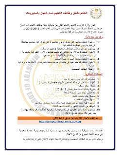الشروط والمستندات المطلوبة في مسابقة وزارة التربية والتعليم 2019