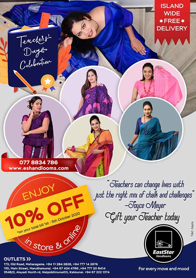 East Star Handlooms - Teachers Day Offer 10% OFF on all Sarees