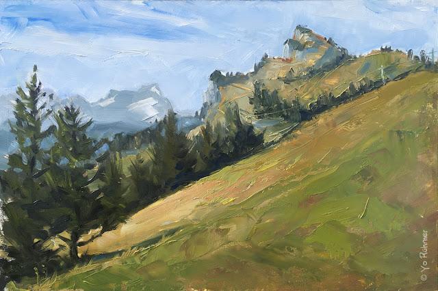 Brauneck gemalt, Ölbild, Pleinairmalerei