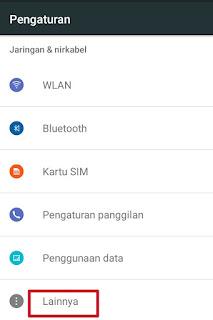 Pengaturan Koneksi Data Seluler Pada Android