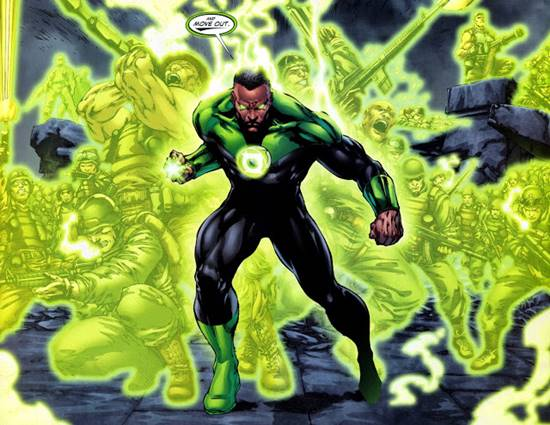 Green Lantern superhéroe negro