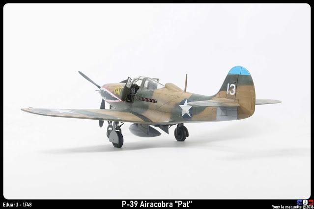 """Maquette du P-400 Airacobra """"PAT"""" d'Eduard au 1/48."""