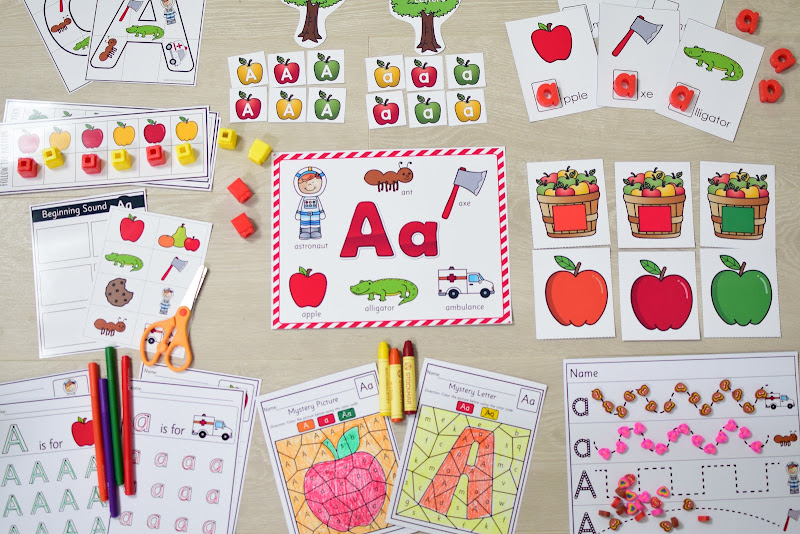 FREE Letter A Curriculum Learning Pack