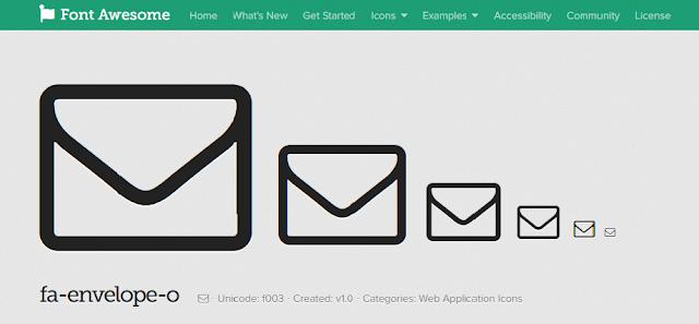 Tổng hợp các Icon hay dùng cho blog