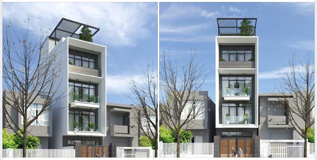 Nhà phố hiện đại làm bao cảnh rộng 5 mét- cao 4 tầng