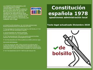 La constitución española de bolsillo para opositores