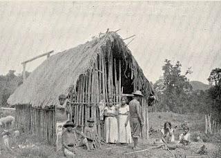 - Rancho guarani no aldeamento do rio Itariri, 1906.