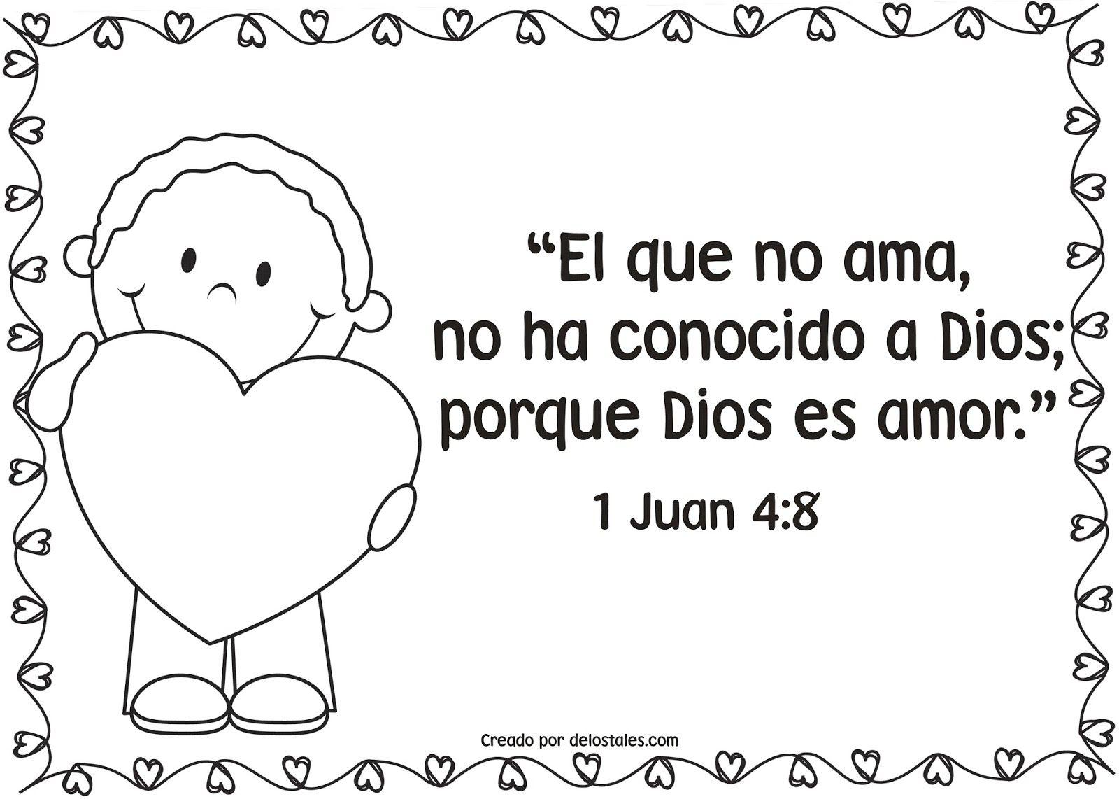 Escuela Dominical El Amor En La Biblia Imágenes Para Colorear