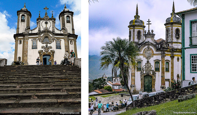 Ouro Preto: igrejas do Carmo e de São Francisco