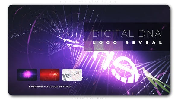 Download Digital DNA Logo Reveal Free VideoHive - Okay Bhargav