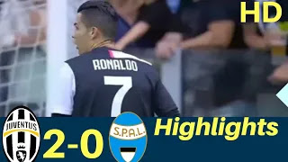 Juventus vs spal 2-0 All Goals And Match Highlights [MP4 & HD VIDEO]