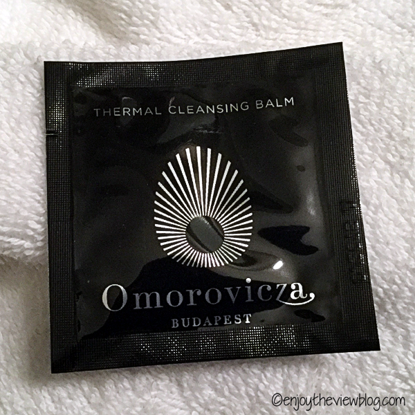 sample packet of Omorovicza Thermal Cleansing Balm