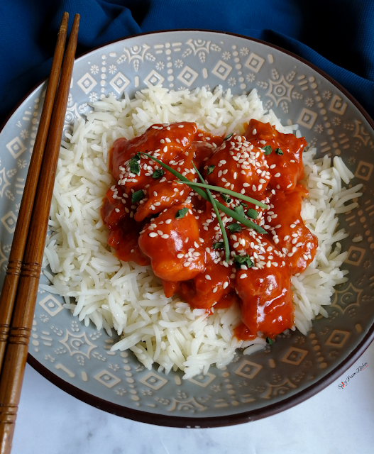 Chinese Orange Chicken and Rice or Noodles, Chinese orange chicken, panda express orange chicken, panda express chicken, noodles, rice, food, recipe, Asian food, Asian cuisine, food photography, pinterest, spicy fusion kitchen, oranges, spicy food, orange chicken, chicken and noodles, chicken and rice,