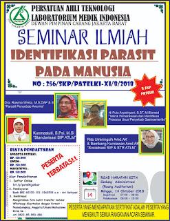 Seminar Ilmiah PATELKI DPC Jakarta Barat 2018  Identifikasi Parasit Pada Manusia